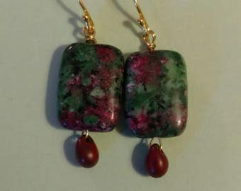 Bloodstone and Picasso Beads