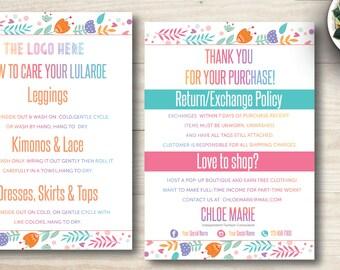 Colourful Flowers LuLa Business card | LuLaRoe Care Card