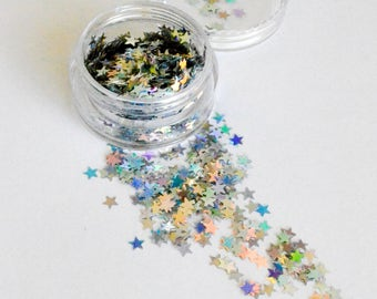 Beautiful Cosmetic Glitter Holographic Silver 'Star Child'