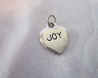 Vintage Silver Tone Hope Joy Charm Bracelet Charm