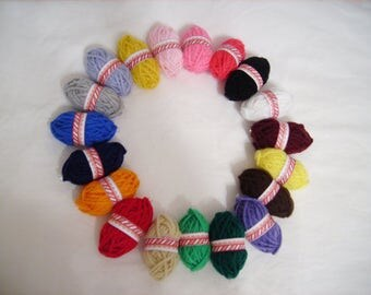 Acrilic yarn balls, craft, art, school project. knit, crochet, color yarn