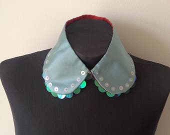 Peter Pan Collar, Baby-blue Silk