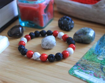 Red Riding Hood - Simple Mala Bracelet