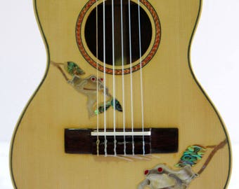 Kaytro - Ukulele Tenor - 6 String Handmade - Frog Inlay - Solidwood Mahogany UKU2741