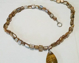 Shell and Tigereye Necklace