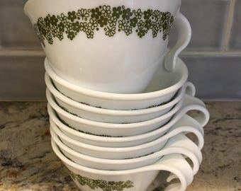 Corelle spring blossom coffee cups