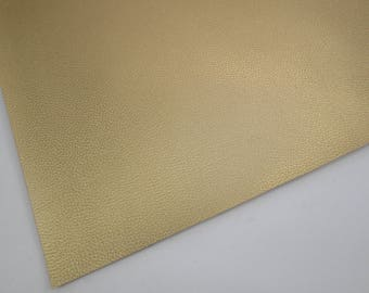 Metallic Old Gold Textured Faux Leather 8X11, Mustard Yellow Soft Cotton Backing