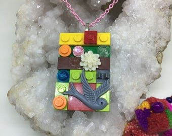 Build ! Funky one off Lego pendant