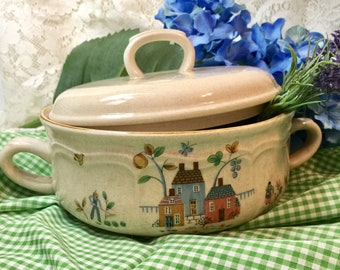 International Covered Serving Dish China Heartland - 1.5 QT