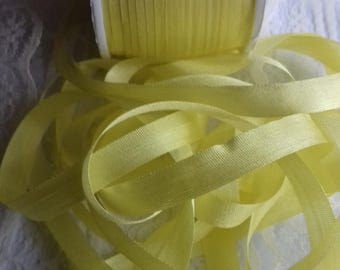 7mm SILK RIBBON Yellow