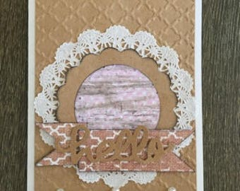 Shabby Chic Paper Greeting Card