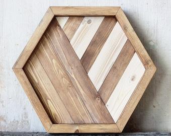 Wood tray  Hexagonal wood tray Ottoman tray Coffee table tray Lath tray Geometric tray Coffe tray Wall wood tray Decor wood tray