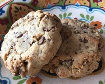 Jumbo Toffee Chocolate Cookies 6 count
