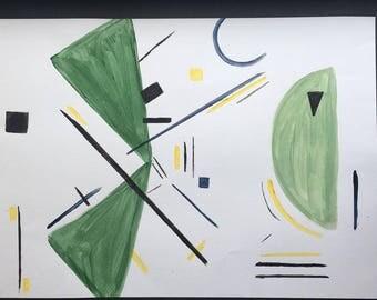 Abstract shape art