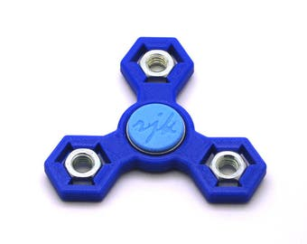 3D Printed Fidget Spinner (Dark Blue/Light Blue)
