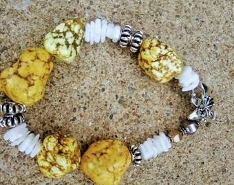 Rock Stone yellow bead bracelet