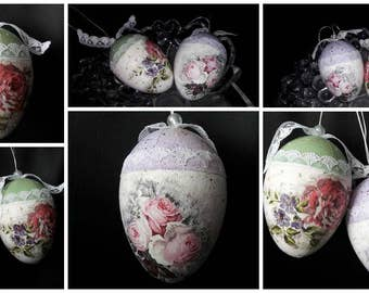 Decoration set 2 Easter eggs * decoupage, handmade