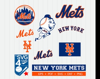 New York Mets Cut Files, SVG Files, Baseball Clipart, Cricut NY Mets Cutting Files, Baseball DXF, Clipart, Instant Download
