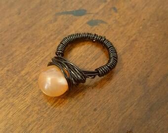 Beautiful Carnelian Semi-Precious Gemstone Ring