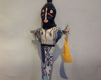 Authentic Voodoo El Muerte Doll Day of Dead Vintage Effigy Creepy Made in Haiti