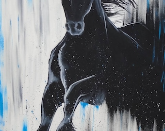 Galo, acrylic, original paint, 24 x 36 in