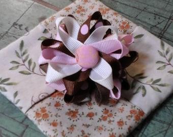 Ribbon Flower Barrette