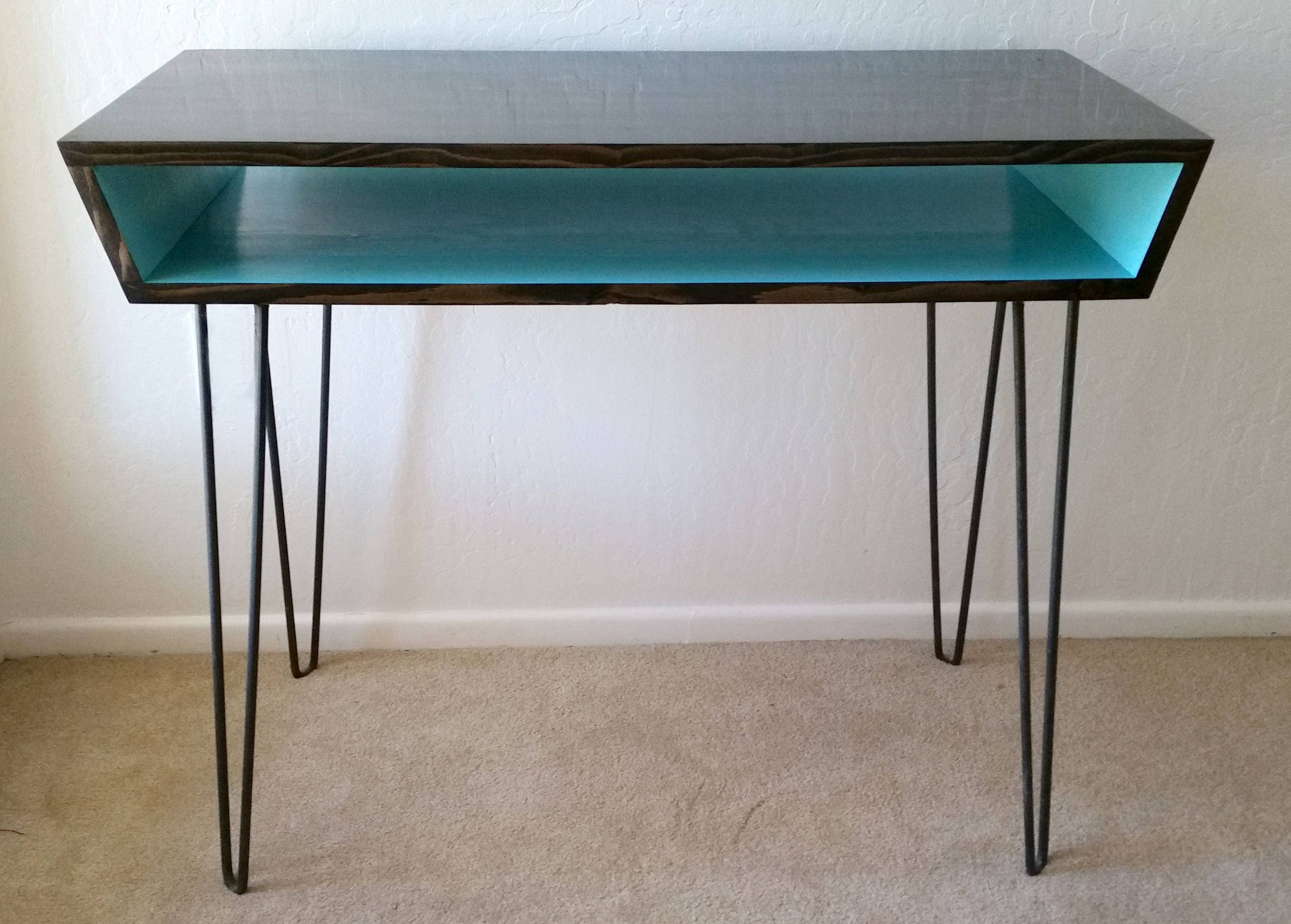 Angled vanity table center table hairpin legs for Center table legs