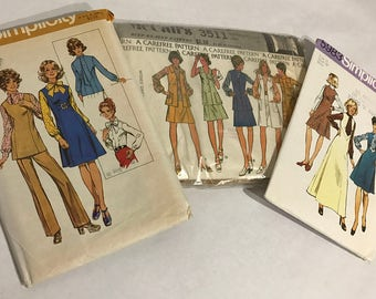 1970's | Womens Clothing Patterns | set of three