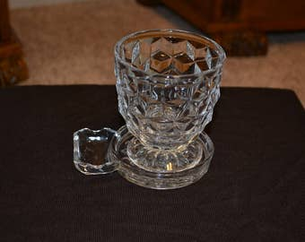 Slotted Coaster with Cube Tumbler