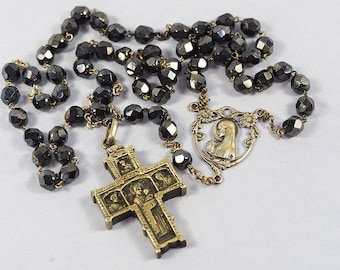 Silver Rosary with Glass Beads