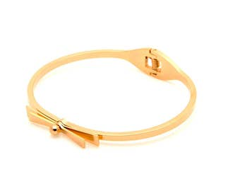 Wrist loop Bow gold