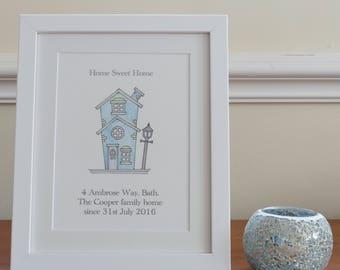 Personalised housewarming gift- framed