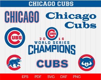 Chicago Cubs Baseball SVG, Chicago cubs, Cubs SVG, Baseball Clipart, Cubs