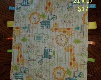 Taggie Blanket, Blanket, Sensory Blanket, Toddler Blanket, Baby Blanket