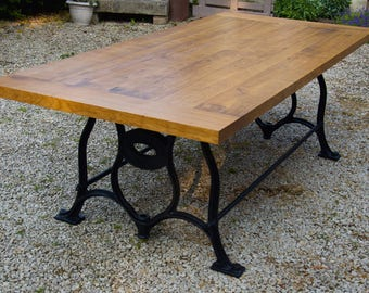 Iron oak table