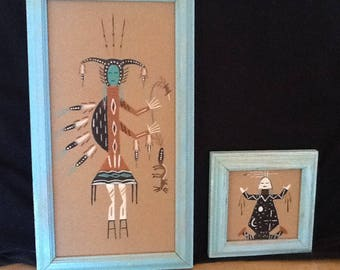 Navajo Sand Paintings: Set of Two