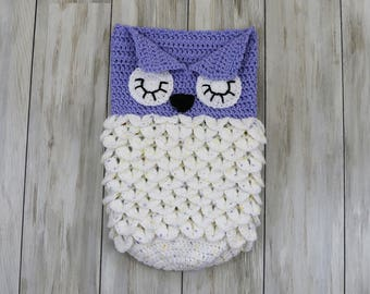 Little Dreamers Owl Cocoon Lined (Light)