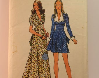 Vintage Sewing Pattern Simplicity Dress 5728 Size 12