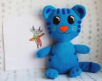 Daniel Tiger, Tigey, Daniel Tiger's Neighborhood, Daniel Tiger's Tigey, Blue Tigey, blue tiger, Daniel Tiger plush toy, Tigey plush, bedtime
