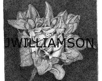 Pointillism flower