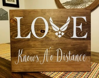 LOVE Knows No Distance- Air Force- Military