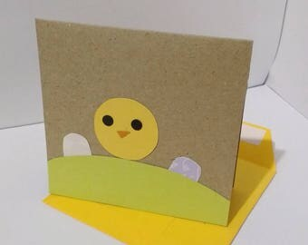 Chick and Easter Egg Card