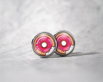 Earrings 12 mm cabochon / donut
