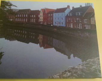 Quaint England (Norwich) Photography. 11 x 14 inches Canvas