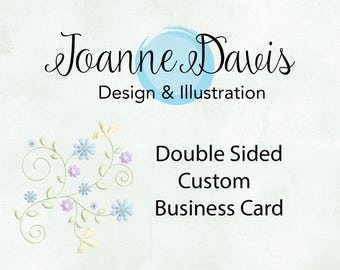 Custom Double Sided Business Card | Unique | Stand Out