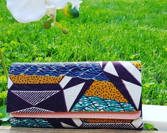 Printed wallet, African Printed wallet. House of Lilies Design,For her