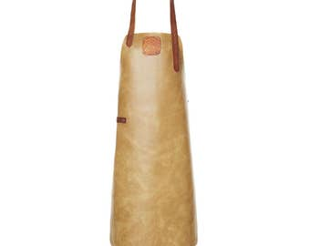 Leather Apron | BBQ Apron | Kitchen Apron | Torf/Cognac