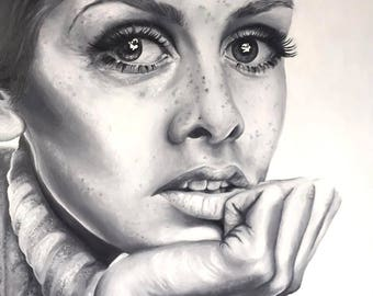 Twiggy Original Oil Painting