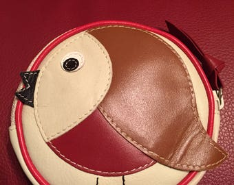 Cute vintage round bird coin purse by John Lewis