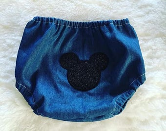 Mickey mouse, Diaper cover, embroidery, boutique, nb, 3,6,9,12,24 months, 2,3t